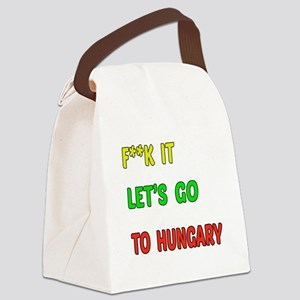 Let's go to Hungary Canvas Lunch Bag