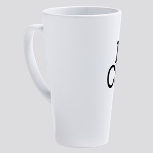 I Love Chess 17 oz Latte Mug