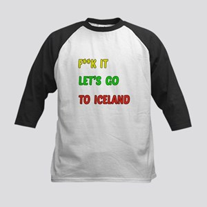 Let's go to Iceland Kids Baseball Jersey