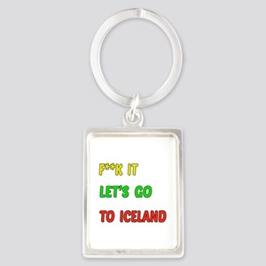 Let's go to Iceland Portrait Keychain