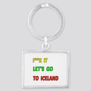Let's go to Iceland Landscape Keychain