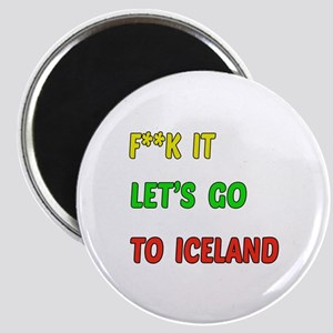 Let's go to Iceland Magnet