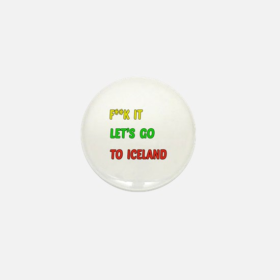 Let's go to Iceland Mini Button