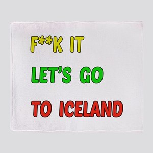 Let's go to Iceland Throw Blanket