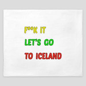 Let's go to Iceland King Duvet