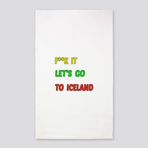 Let's go to Iceland Area Rug
