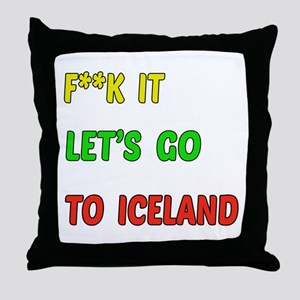 Let's go to Iceland Throw Pillow