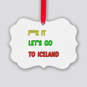 Let's go to Iceland Picture Ornament