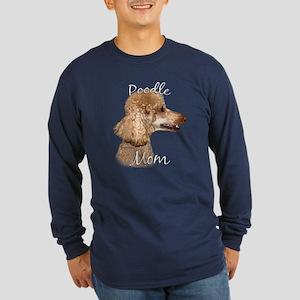 Poodle Mom2 Long Sleeve Dark T-Shirt