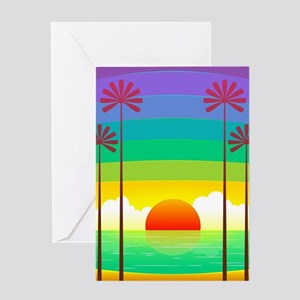 Colorful Hawaii Sunset Greeting Cards