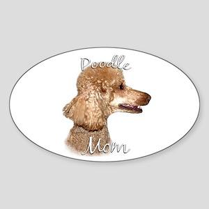 Poodle Mom2 Oval Sticker
