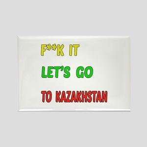 Let's go to Kazakhstan Rectangle Magnet