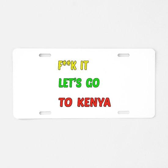 Let's go to Kenya Aluminum License Plate