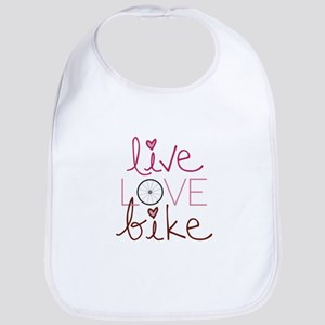 Bike Love Wheel Bicycle Bib