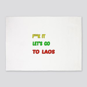 Let's go to Laos 5'x7'Area Rug