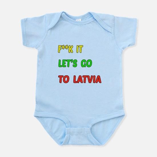 Let's go to Latvia Infant Bodysuit