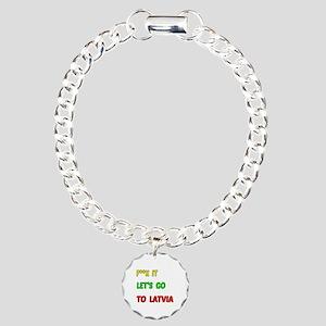 Let's go to Latvia Charm Bracelet, One Charm
