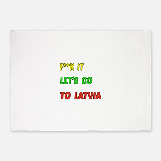Let's go to Latvia 5'x7'Area Rug