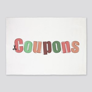 Coupon Clipper 5'x7'Area Rug