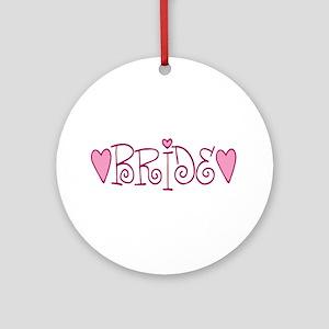 Bride Love Letters Ornament (Round)