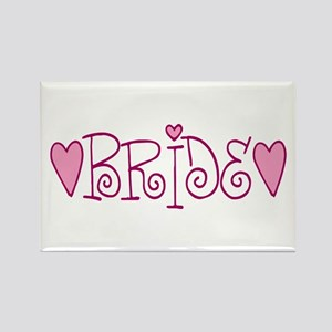 Bride Love Letters Rectangle Magnet