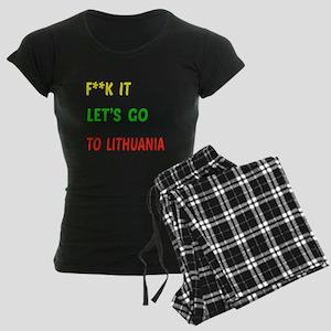 Let's go to Lithuania Women's Dark Pajamas