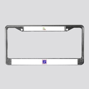 Let's go to Lithuania License Plate Frame