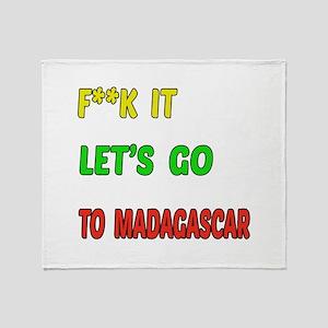 Let's go to Madagascar Throw Blanket