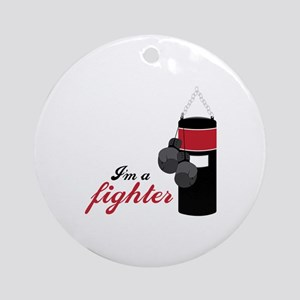 Boxing Fighter Round Ornament