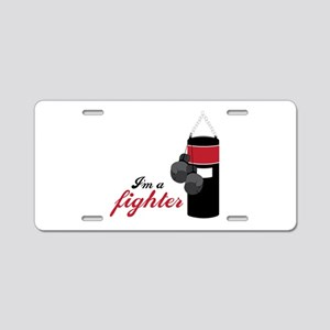 Boxing Fighter Aluminum License Plate