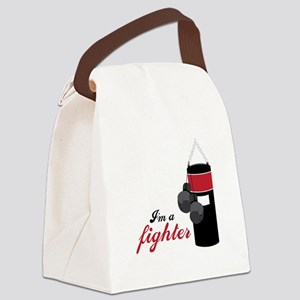 Boxing Fighter Canvas Lunch Bag