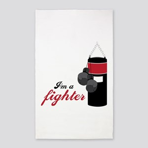 Boxing Fighter Area Rug