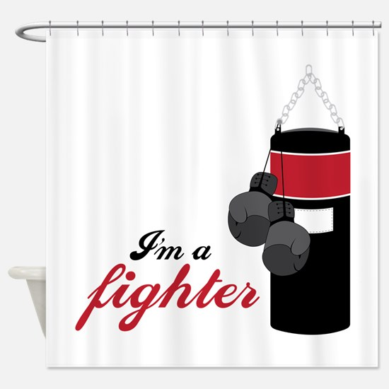 Boxing Fighter Shower Curtain