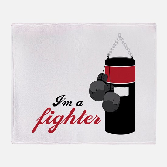 Boxing Fighter Throw Blanket
