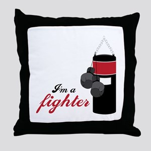 Boxing Fighter Throw Pillow