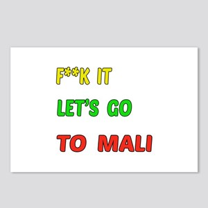 Let's go to Mali Postcards (Package of 8)