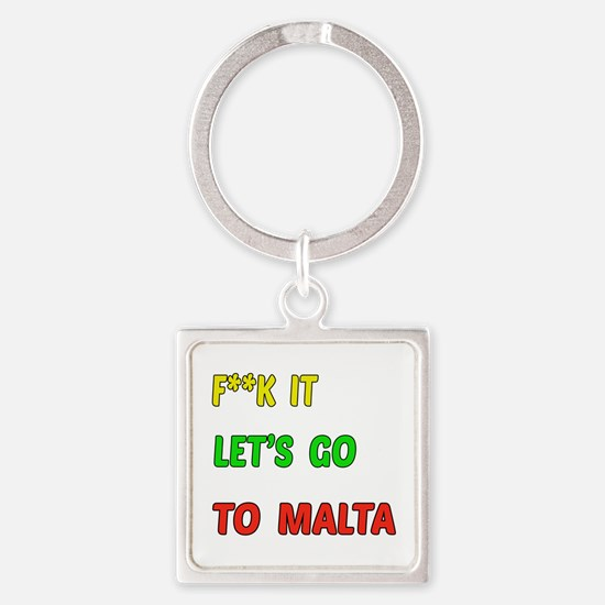 Let's go to Malta Square Keychain
