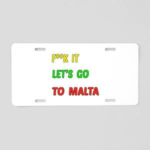 Let's go to Malta Aluminum License Plate