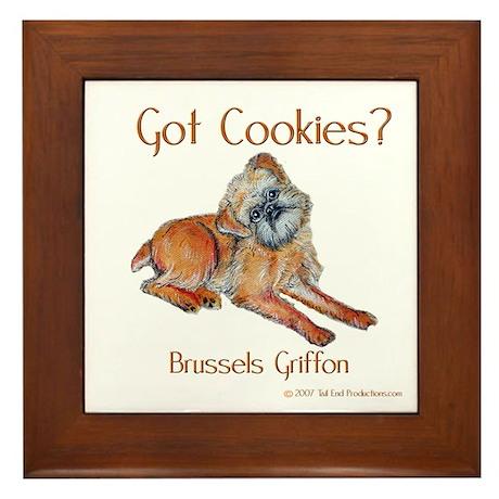 Brussels Griffon Cookies! Framed Tile