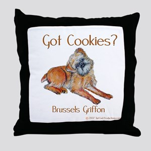 Brussels Griffon Cookies! Throw Pillow