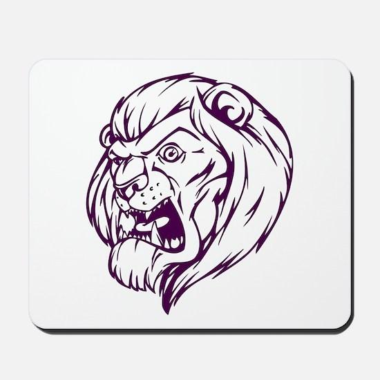 Lion Mascot (Purple) Mousepad