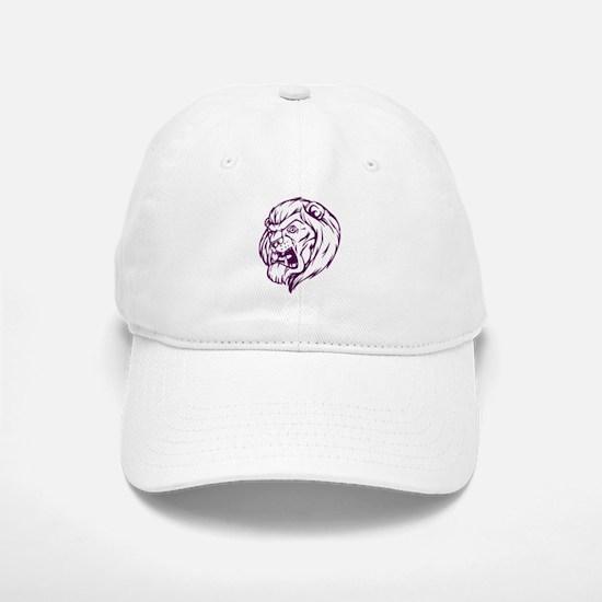 Lion Mascot (Purple) Baseball Baseball Cap