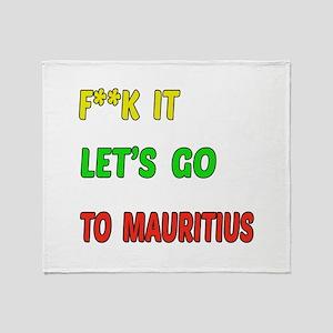 Let's go to Mauritius Throw Blanket