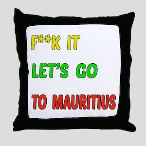 Let's go to Mauritius Throw Pillow