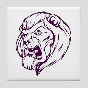 Lion Mascot (Purple) Tile Coaster