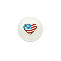 I Love America Flag Mini Button (10 pack)