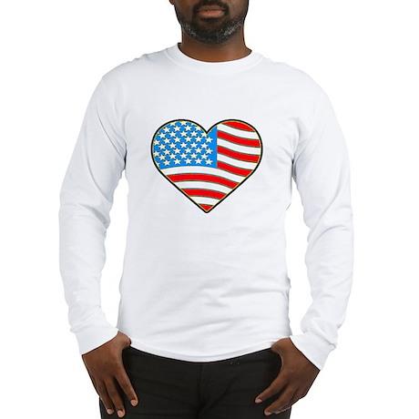 I Love America Flag Long Sleeve T-Shirt