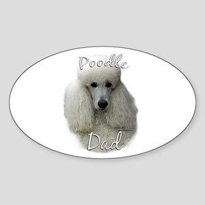 Poodle Dad2 Oval Sticker