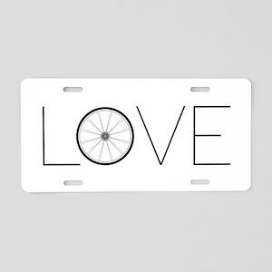 Love Wheel Aluminum License Plate