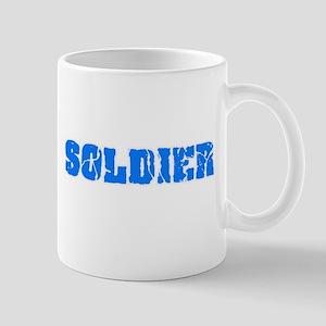 Soldier Blue Bold Design Mugs